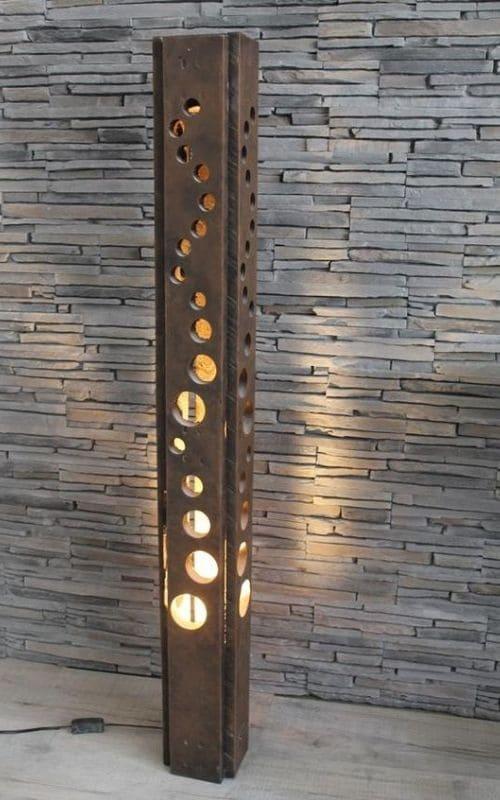 Luminaire extérieur en acier corten