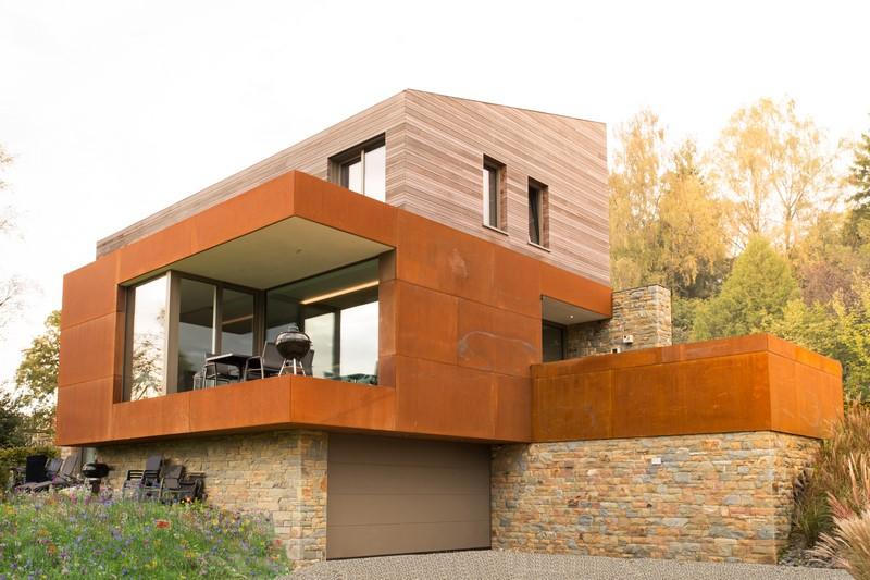 Nouvelle maison avec bardage en acier Corten