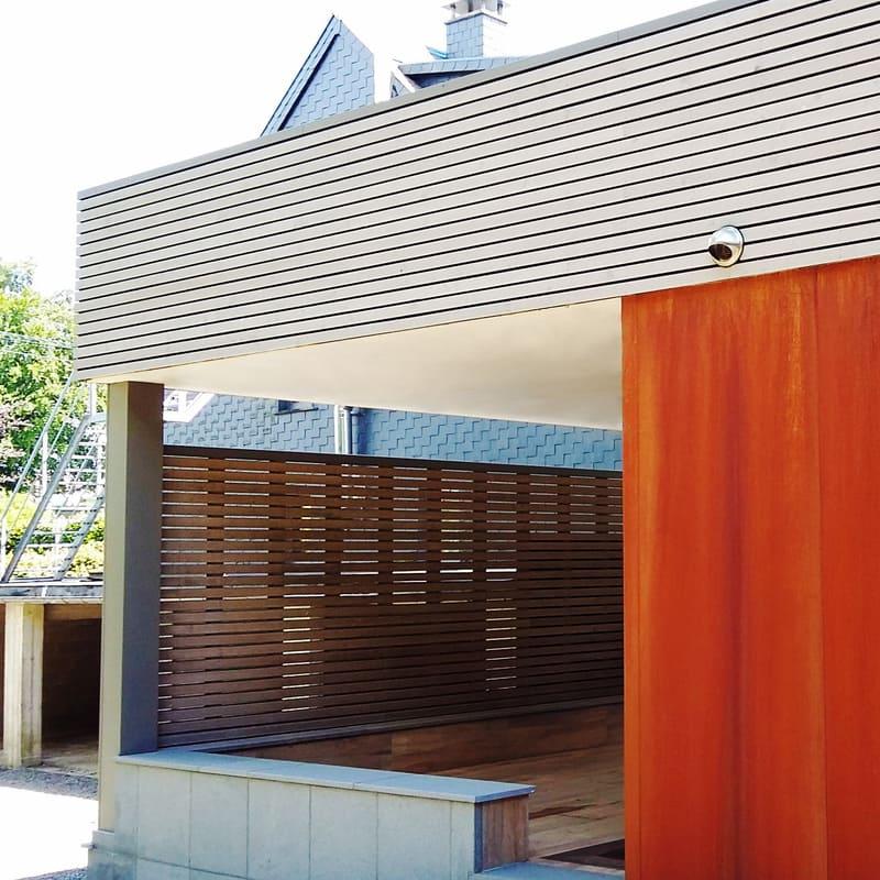 Bardage en acier Corten - Pool house